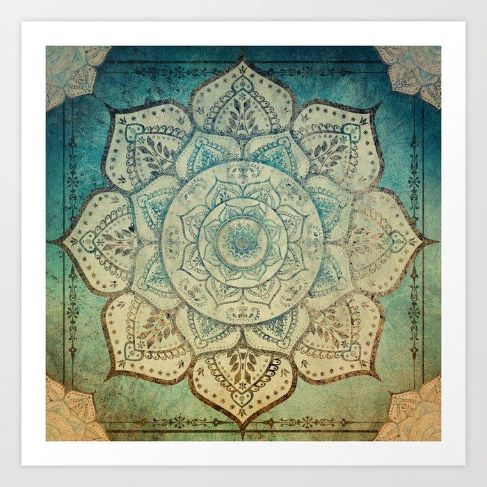 Faded Bohemian Mandala Kunstdrucke