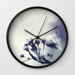 Spring in Black and White III Wall Clock