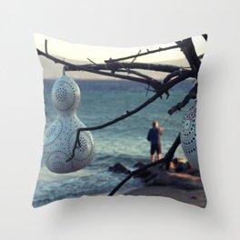 scenery from turkey to greek island Throw Pillow