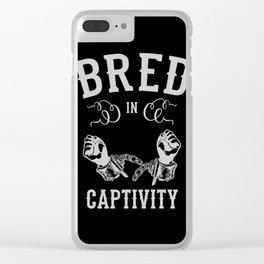 Bred In Captivity Clear iPhone Case