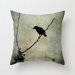 Oh Black Bird Throw Pillow