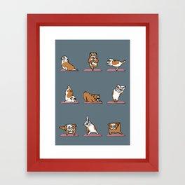 English Bulldog Yoga Framed Art Print