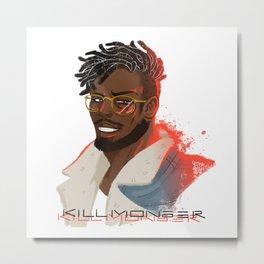 killmonger glasses Metal Print