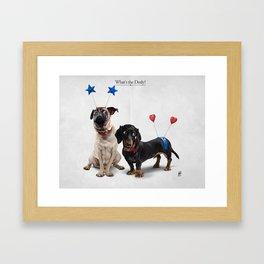 What's the Deely? Framed Art Print