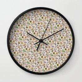 Bugs & Shrooms Wall Clock