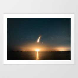 SpaceX Launch Art Print