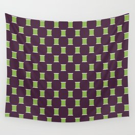 Little Green Spools Wall Tapestry