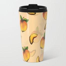 Peach Design Travel Mug