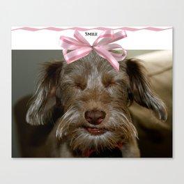 Smile, puppy, smile Canvas Print