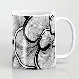 Mushrooms in black and white Coffee Mug