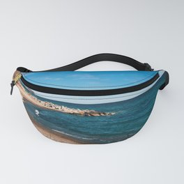 At the beach on a cold winter day Fanny Pack
