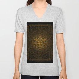 Dark Matter - Gold - By Aeonic Art Unisex V-Neck