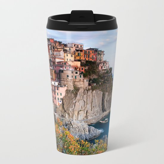 Italy Village Metal Travel Mug