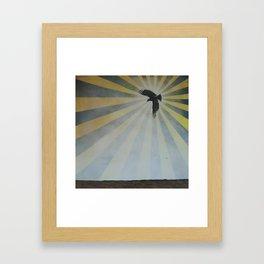 flight is the first retreat Framed Art Print