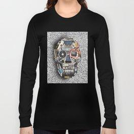 retro tech skull 5 Long Sleeve T-shirt