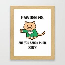 The Hamilton Cat Framed Art Print
