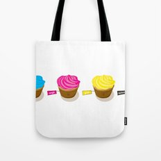 CMYK cupcakes Tote Bag