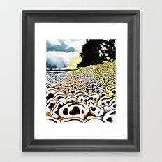 Paysage d'oreilles Framed Art Print