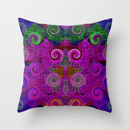 Neon Delight Throw Pillow