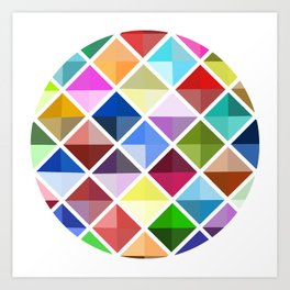 Colored World Art Print
