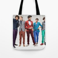 1d Tote Bags featuring 1d by Max Jones