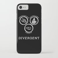 divergent iPhone & iPod Cases featuring Divergent (White) by Lunil