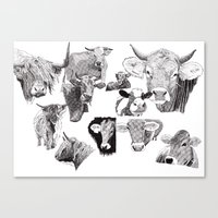 cows Canvas Prints featuring Cows by Rik Reimert