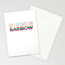 My Color Is Rainbow Stationery Cards