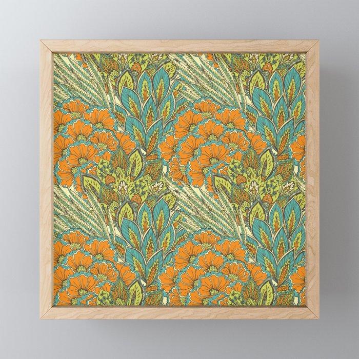 Floral Tropical pattern Framed Mini Art Print