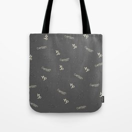 Capricorn Pattern Tote Bag