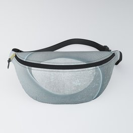 Geometrical Line Art Circle Distressed Teal Fanny Pack