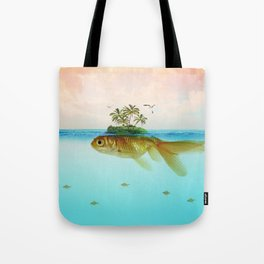 Goldfish Island II Tote Bag