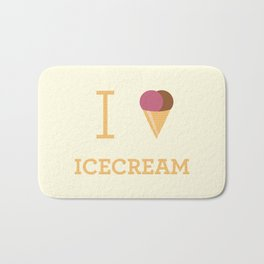 I heart Icecream Bath Mat