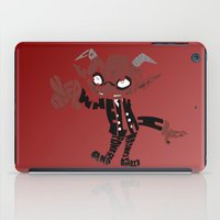 soul eater iPad Cases featuring little demon soul eater by Rebecca McGoran