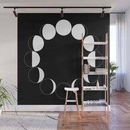 PHASES OF THE MOON Wall Mural