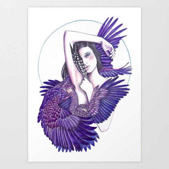 Eagle Woman Art Print