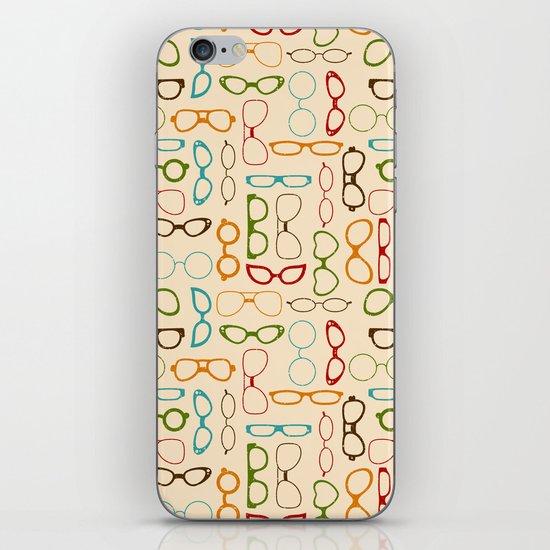 Retro glasses iPhone & iPod Skin