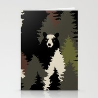 bears Stationery Cards featuring BEARS by Kimsa