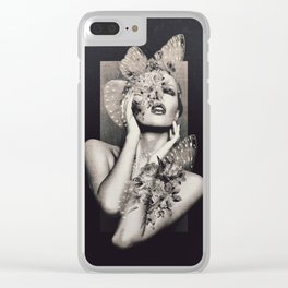 Lady Butterfly Clear iPhone Case