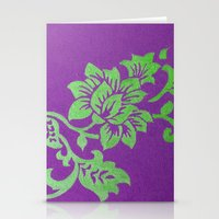 floral pattern Stationery Cards featuring Floral Pattern by Marjolein