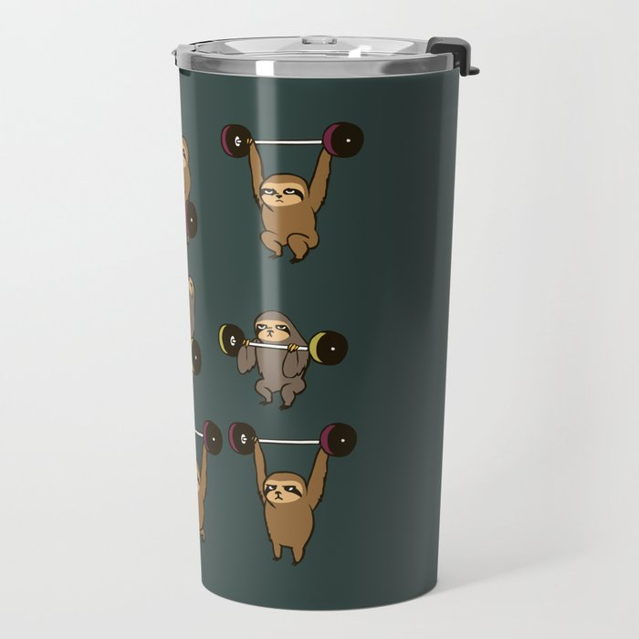 OLYMPIC LIFTING SLOTHS Travel Mug