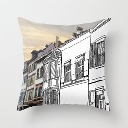 Strasse Pastiche  Throw Pillow