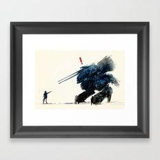 AHHH! A SNAKE! Framed Art Print