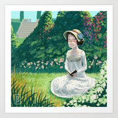 Garden Reading Art Print