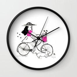 Alicia - A Spring Day Wall Clock