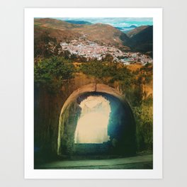 Tunnel Del Sol Art Print