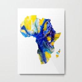 Africa Map 4 Metal Print