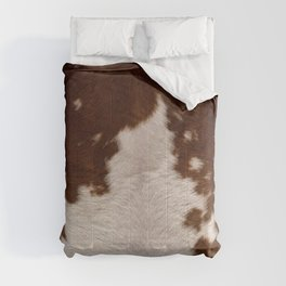 brown cowhide Comforters