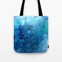fireflies Tote Bags featuring Fireflies by Deborah Lehman