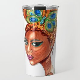 Peacock Butterfly Pinup Travel Mug